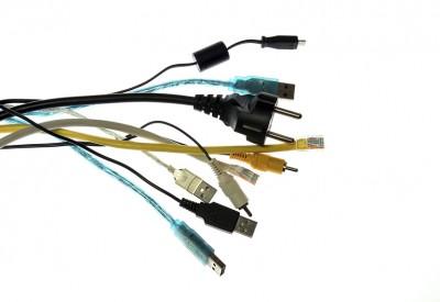 Stromkabel und IT-Anschlüsse
